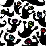 Nahtlose Halloween-Geister Stockfotos
