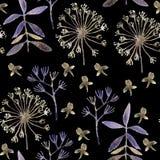 Nahtlose Hand erl?utertes Blumenmuster vektor abbildung