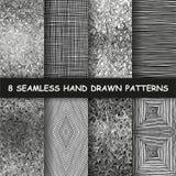 Nahtlose Hand gezeichnetes Muster stockbild