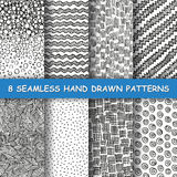 Nahtlose Hand gezeichnetes Muster stockfotos