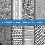 Nahtlose Hand gezeichnetes Muster stockfoto