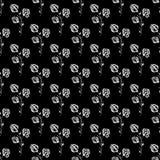 Nahtlose Handgezogenes Muster der abstrakten Brombeere lokalisiert auf schwarzem Hintergrund Vector Blumenabbildung Nettes Gekrit lizenzfreie abbildung