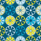 Nahtlose hell farbiger Kreis-Räder vektor abbildung