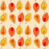 Nahtlose Herbstblätter Lizenzfreie Stockfotos