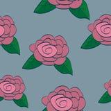 Nahtlose Hintergrund-Fliese Rose Stockfoto