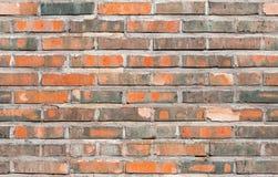 Nahtlose Hintergrundbeschaffenheit der alten Wand des roten Backsteins Stockbild
