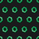 nahtlose Hintergrunddunkelheit des Hexagons 3d Lizenzfreies Stockbild