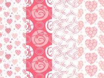 Nahtlose Hintergrundmuster in den rosa Farben lizenzfreie abbildung