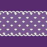 Nahtlose Hintergrundmuster-Spitze-, violette und weißefarbe Lizenzfreies Stockbild