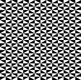 Nahtlose Hintergrundvektoren des Schwarzweiss-Würfelmusters lizenzfreie abbildung