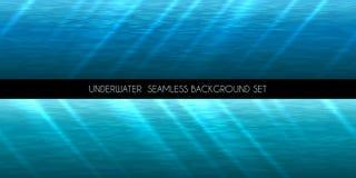 Nahtlose Hintergrundvektorunterwasserillustration stock abbildung