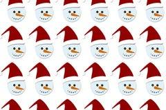 Nahtlose Ikonen- und Elementbeschaffenheit des lustigen flachen Designs Weihnachts- und Packpapiermuster des neuen Jahres Lizenzfreies Stockbild