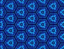 Nahtlose Illusion des Winters baute von den Hexagonen mit Betrug zusammen lizenzfreie abbildung