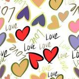 Nahtlose Illustrationen der Liebe für Valentinstag, Feiern oder Jahrestag Tapete, Grafik, Art u. Details stock abbildung