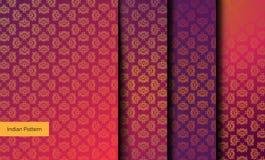 Nahtlose indische Muster lizenzfreie stockbilder