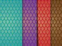 Nahtlose indische Muster stockbilder