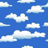 Nahtlose Karikatur-Wolken Lizenzfreies Stockfoto