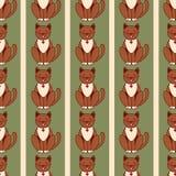 Nahtlose Katzenhintergrund-Vektorzeichnung Lizenzfreies Stockfoto
