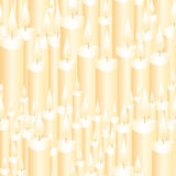 Nahtlose Kerzen Stock Abbildung