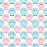 Nahtlose Kindermuster-Vektorillustration Lizenzfreies Stockbild