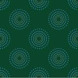 Nahtlose Kreis-Dots Green Background Abstract Pattern-Dunkelheit 1 Lizenzfreie Stockfotos