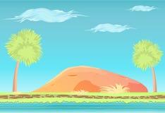 Nahtlose Landschaft der Paradies-Insel Stockfoto