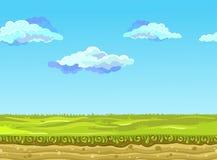 Nahtlose Landschaft, Vektorillustration lizenzfreie stockfotos