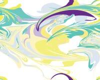 Nahtlose Linie Marmormuster, Vektorillustration Mardi Grass Lizenzfreies Stockbild