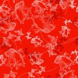 Nahtlose mit Blumenbeschaffenheit lizenzfreie abbildung