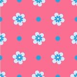 Nahtlose mit Blumenillustration Lizenzfreie Stockbilder