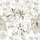 Nahtlose mit Blumentapete Lizenzfreies Stockfoto