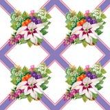 Nahtlose mit Blumentapete in der Aquarellart Stockbilder