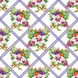 Nahtlose mit Blumentapete in der Aquarellart Stockfotos
