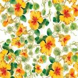 Nahtlose mit Blumentapete in der Aquarellart Lizenzfreie Stockfotografie