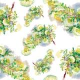 Nahtlose mit Blumentapete in der Aquarellart Lizenzfreie Stockbilder