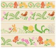 Nahtlose mit Blumenverzierungen Stockfoto