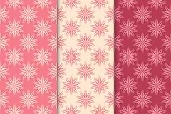Nahtlose mit Blumenverzierungen Kirschrot-Vertikalenhintergründe Stockbilder