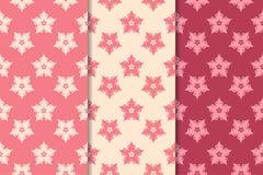 Nahtlose mit Blumenverzierungen Kirschrot-Vertikalenhintergründe Stockfoto
