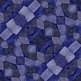 Nahtlose Mosaikbeschaffenheit Vektorblaukaleidoskop lizenzfreie abbildung