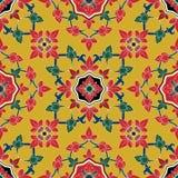 Nahtlose Muster Blume in traditionellem thailändischem Lizenzfreies Stockbild