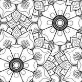 Nahtlose Muster Blumen-Mandalen Stockfoto