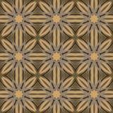 Nahtlose Muster Brown-Vektors, deckend mit Ziegeln Geometrische Verzierungen Lizenzfreie Stockfotos