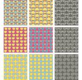 Nahtlose Muster der Art und Weisegläser eingestellt Lizenzfreie Stockfotografie