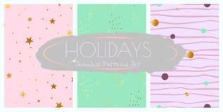 Nahtlose Muster der Feiertagsdekorationen eingestellt lizenzfreie abbildung
