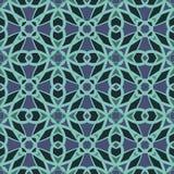 Nahtlose Muster des Blauuniversalvektors, deckend mit Ziegeln Geometrische Verzierungen Stockbilder