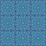 Nahtlose Muster des Blauuniversalvektors, deckend mit Ziegeln Geometrische Verzierungen Lizenzfreie Stockbilder
