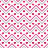 Nahtlose Muster des Herzsparrens Lizenzfreie Stockfotografie