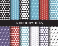 16 nahtlose Muster des Punktes Stockbilder