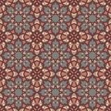 Nahtlose Muster des Rotuniversalvektors, deckend mit Ziegeln Geometrische Verzierungen Lizenzfreies Stockfoto