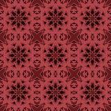 Nahtlose Muster des Rotuniversalvektors, deckend mit Ziegeln Geometrische Verzierungen Lizenzfreie Stockbilder